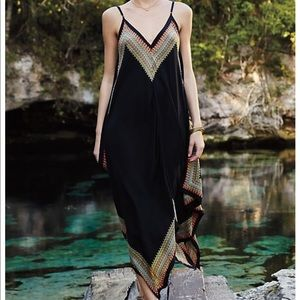 Anthropology silk dress